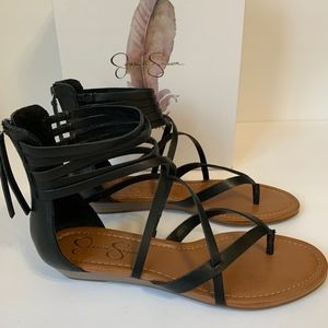 New Jessica Simpson Wedge Sandal Size 9.5 Black